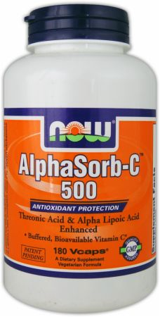 NOW, AlphaSorb-C 500, 180 капсул