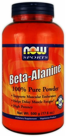 NOW, Beta-Alanine Powder, 500 грамм