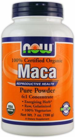NOW, Maca Organic Pure Powder, 200 грамм