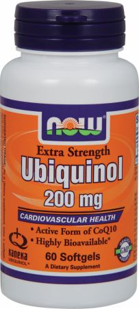NOW, Ubiquinol, 200мг/60 капсул