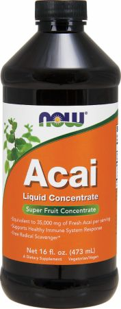 NOW, Acai Liquid Concentrate, 474 мл