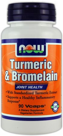 NOW, Turmeric & Bromelain, 90 капсул