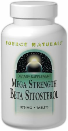 Source Naturals, Mega Strength Beta Sitosterol, 375 мг/120 таблеток
