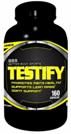 Better Body Sports, Testify, 160 капсул