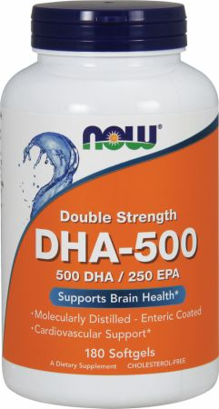 NOW, DHA-500, 180 капсул