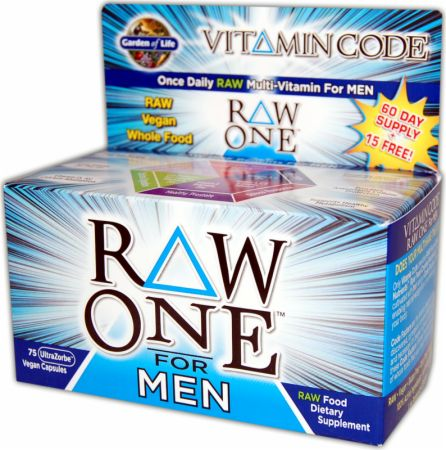 Garden Of Life, Raw One For Men, 30 капсул