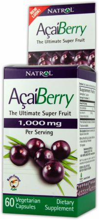 Natrol, AcaiBerry, 1200мг/60 капсул
