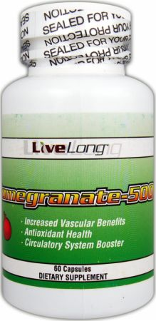 LiveLong Nutrition, Pomegranate-500, 60 капсул