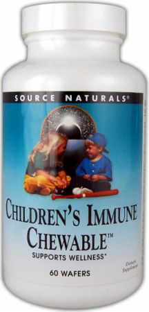 Source Naturals, Children's Immune Chewable, 60 жевательных вафель