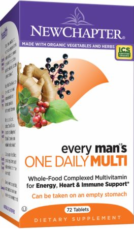 New Chapter, Every Man's One Daily - Enhanced Formula, 72 таблетки