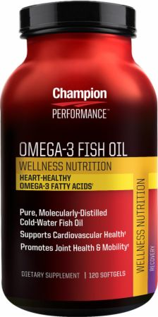 Champion, Omega 3 Fish Oil, 120 капсул