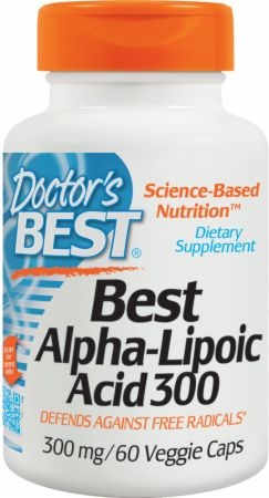 Doctor's Best, Best Alpha-Lipoic Acid 600, 300мг/180 капсул