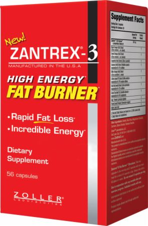 Zoller Laboratories, Zantrex-3 Fat Burner, 56 капсул