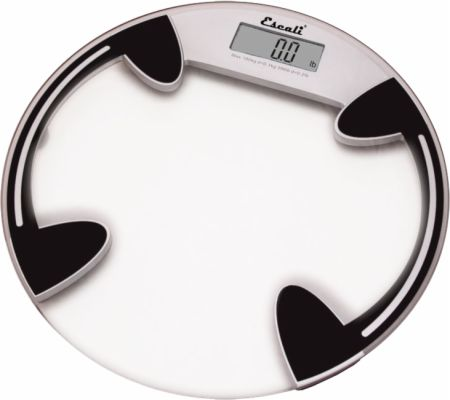 Escali, Clear Glass Body Weight Scale
