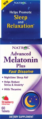Natrol, Advanced Melatonin Plus Fast Dissolve, 60 таблеток