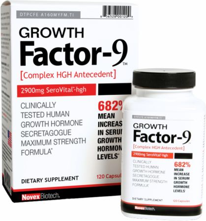 Novex Biotech, Growth Factor-9, 120 капсул