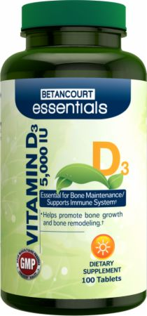 Betancourt Nutrition, Essentials Vitamin D, 5,000 ед./100 таблеток
