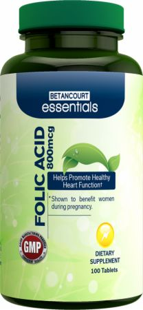 Betancourt Nutrition, Essentials Folic Acid, 800мг/100 таблеток