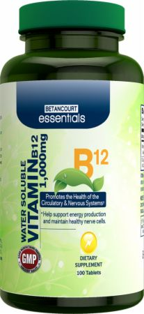 Betancourt Nutrition, Essentials Vitamin B12, 100 таблеток