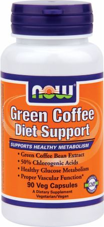 NOW, Green Coffee Diet Support, 90 капсул