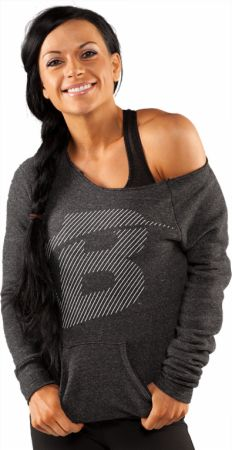 Bodybuilding.com Clothing, Women's Core Diagonal Maniac Eco Sweatshirt