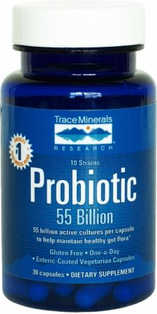 Trace Minerals, Probiotic 55 Billion, 30 капсул
