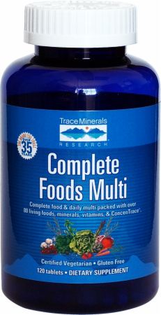 Trace Minerals, Complete Foods Multi, 120 таблеток