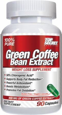 Top Secret Nutrition, Green Coffee Bean Extract, 90 капсул