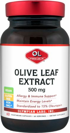 Olympian Labs, Olive Leaf Extract, 60 капсул