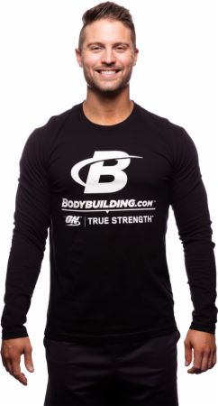 Bodybuilding.com Clothing, Long Sleeve Fitted Logo T-Shirt
