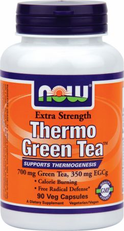 NOW, Thermo Green Tea, 90 капсул