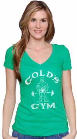 Gold's Gym, Women's Lucky Deep V Tee