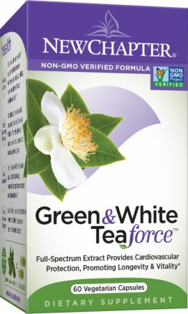 New Chapter, Green & White Tea Force, 60 капсул