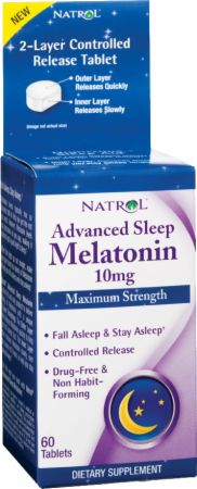 Natrol, Advanced Sleep Melatonin, 60 таблеток