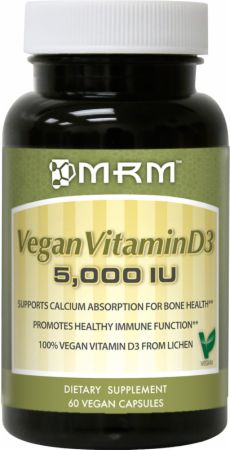 MRM, Vegan Vitamin D3, 2500ед./60 капсул