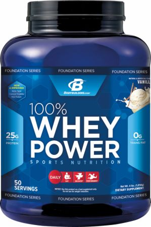 Bodybuilding.com Foundation Series, 100% Whey Power, 908 грамм