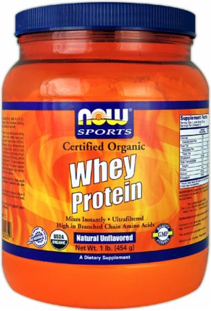 NOW, Certified Organic Whey Protein, 454 грамма