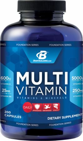 Bodybuilding.com Foundation Series, Multivitamin, 200 капсул