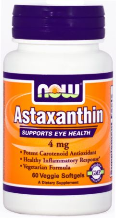 NOW, Astaxanthin, 60 капсул