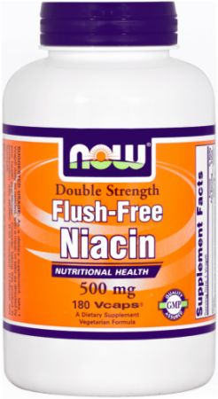 NOW, Flush-Free Niacin, 180 капсул