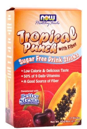 NOW, Sugar Free Drink Sticks, 12 шт