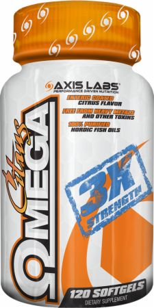 Axis Labs, Citrus Omega, 120 капсул