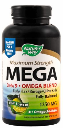Nature's Way, MEGA, 180 капсул