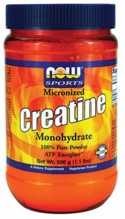 NOW, Micronized Creatine Monohydrate, 500 грамм