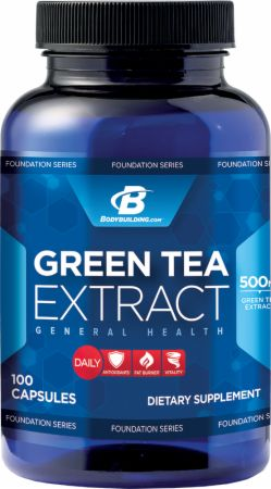 Bodybuilding.com Foundation Series, Green Tea Extract, 100 капсул