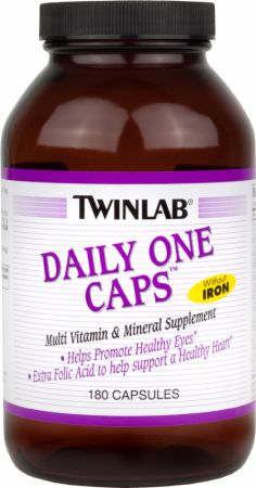 Twinlab, Daily One Caps Without Iron, 180 капсул