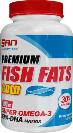 S.A.N., Premium Fish Fats Gold, 120 капсул