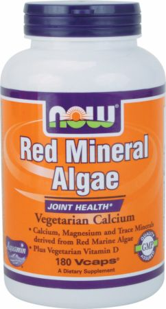 NOW, Red Mineral Algae, 180 капсул