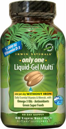 Irwin Naturals, Only One Liquid-Gel Multi Without Iron, 60  капсул