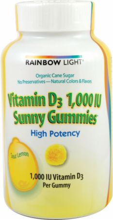 Rainbow Light, Vitamin D3 1000 IU Sunny Gummies, 100 жевательных таблеток